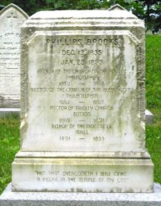 P Brooks tombstone